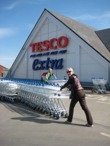 My first Tesco- earning a bit of extra cash... or stealing trollies, can't remember which.