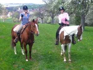 Sparkles & Devine riding Europe