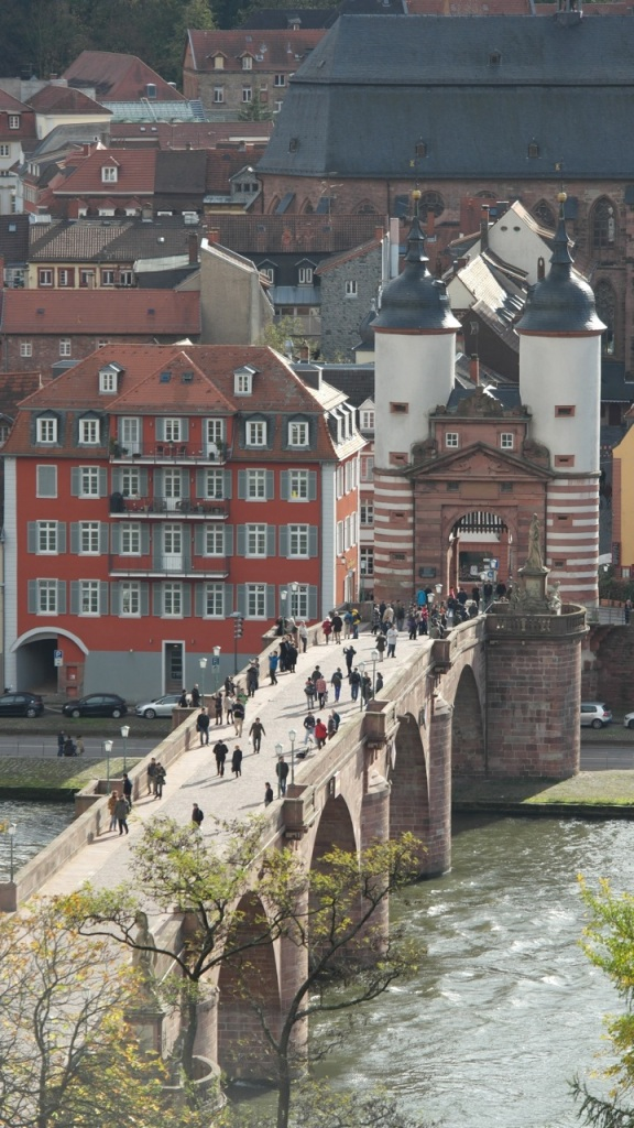 View of the Alte Brucke and Church from Philosophen Weg